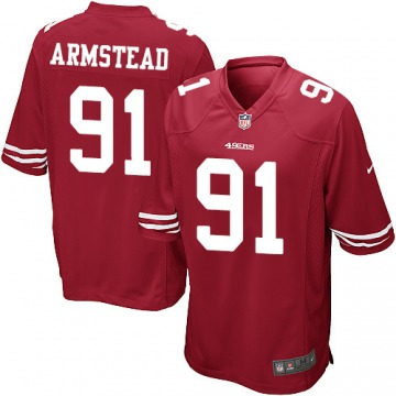 Men's Arik Armstead San Francisco 49ers Game Red Team Color Jersey