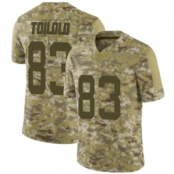 Men's Levine Toilolo San Francisco 49ers Limited Camo 2018 Salute to Service Jersey