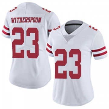 Women's Ahkello Witherspoon San Francisco 49ers Limited White Vapor Untouchable Jersey
