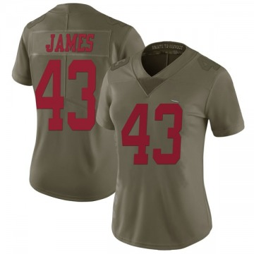 Women's Chanceller James San Francisco 49ers Limited Green 2017 Salute to Service Jersey
