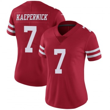 Women's Colin Kaepernick San Francisco 49ers Limited Scarlet 100th Vapor Jersey