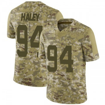 Youth Charles Haley San Francisco 49ers Limited Camo 2018 Salute to Service Jersey