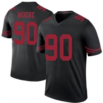 Youth Damontre' Moore San Francisco 49ers Legend Black Color Rush Jersey