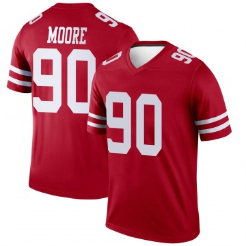 Youth Damontre' Moore San Francisco 49ers Legend Scarlet Jersey