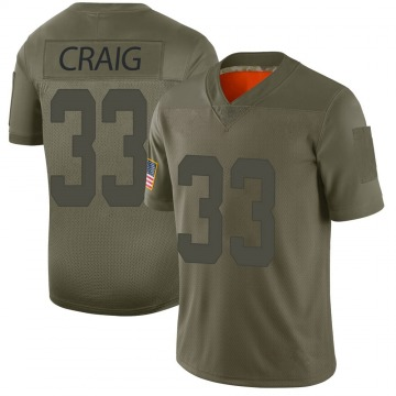 Youth Roger Craig San Francisco 49ers Limited Camo 2019 Salute to Service Jersey