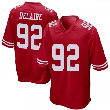 Youth Ryan Delaire San Francisco 49ers Game Red Team Color Jersey