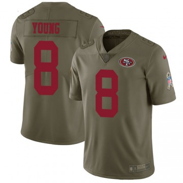 Youth Steve Young San Francisco 49ers Limited Olive 2017 Salute to Service Jersey